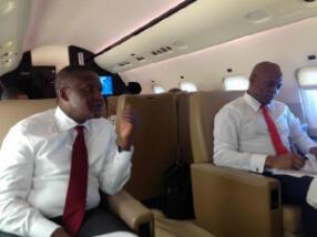 Photo: Aliko Dangote Spotted In Tony Elumelu's Private Jet