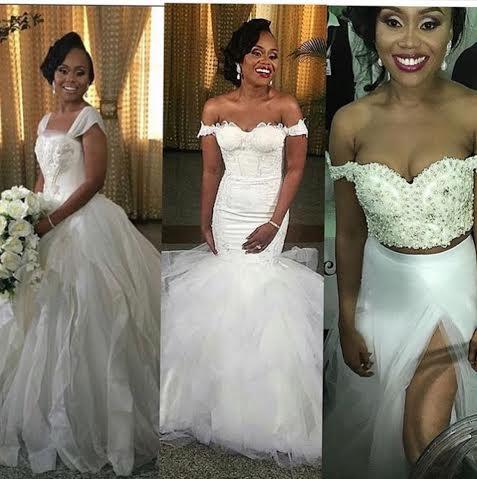 Gorgeous Nigerian Bride Cynthia Who Got Married To Media Personality Ebuka Uchendu Last Weekend Had Three Different Looks On Her Wedding Day