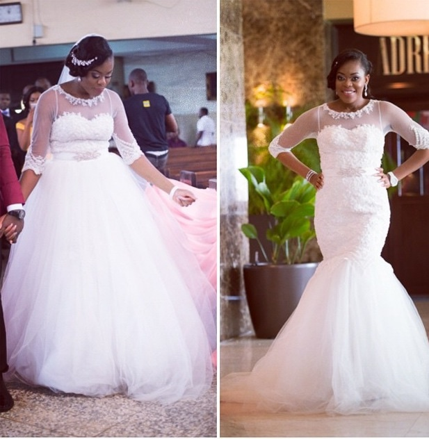 Wedding Gown Alert: Why We Love Chinelo's Two-In-One